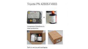 Kit de réparation de pneu (compresseur + liquide)