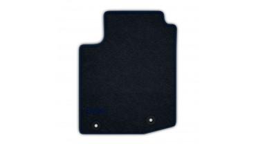 Jeu de tapis avant et arrière - Velours anthracite 520g/m² contour gris eclipse